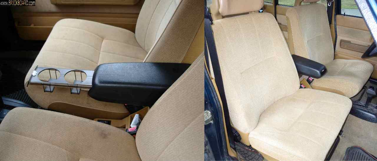 Volvo 200 -- 06- front seats and arm rest