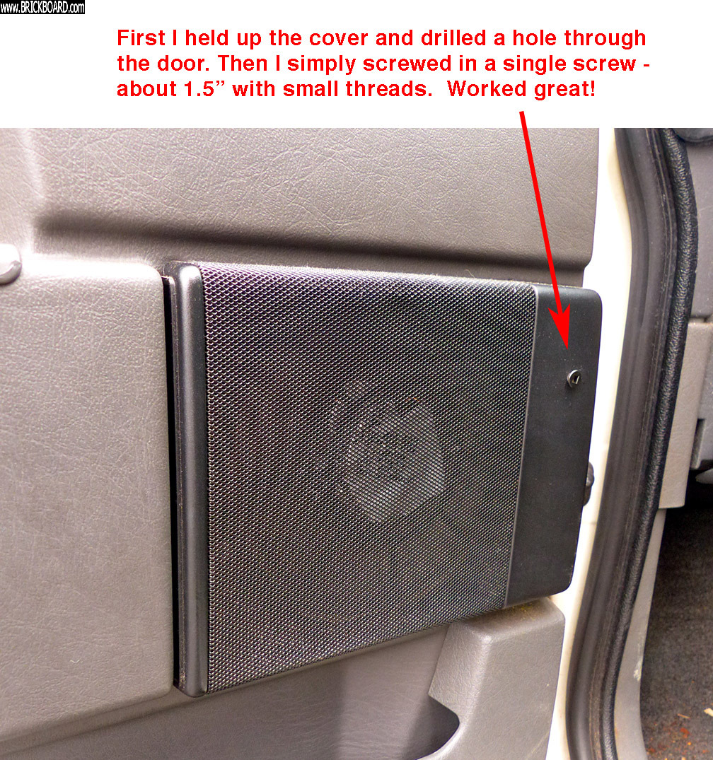 Volvo 900 -- 940 speaker grille cover fix - simple!