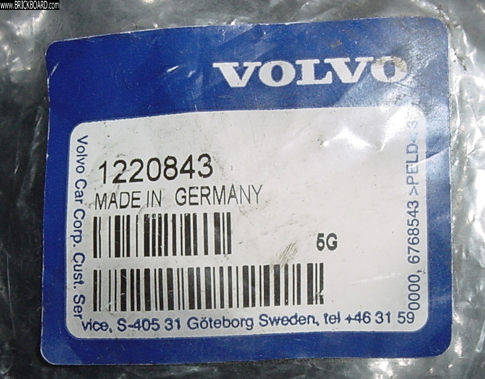 Volvo 200 -- Bag that had new Giubo for my 1991 Kittys Grey Volvo 240.