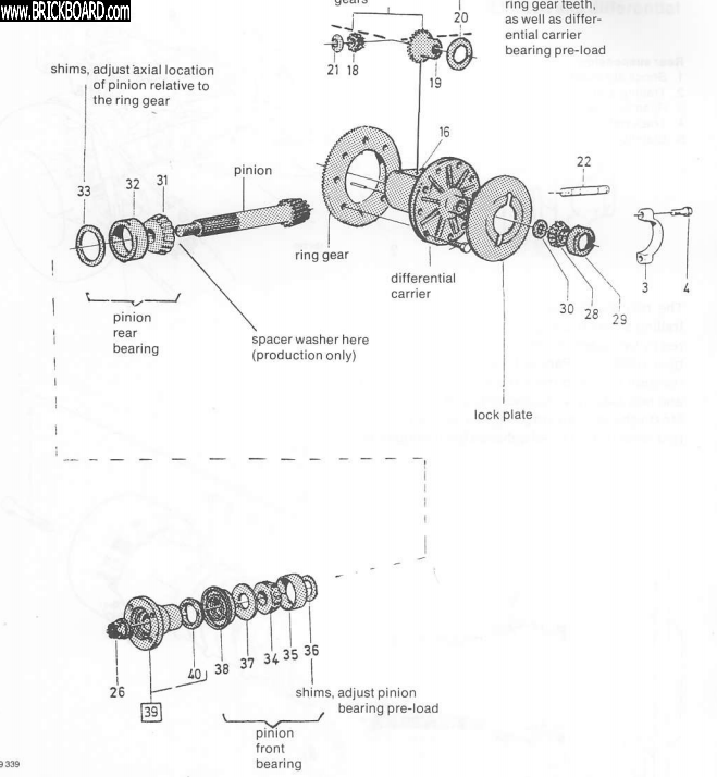 Volvo  -- 240 rear axle pinion